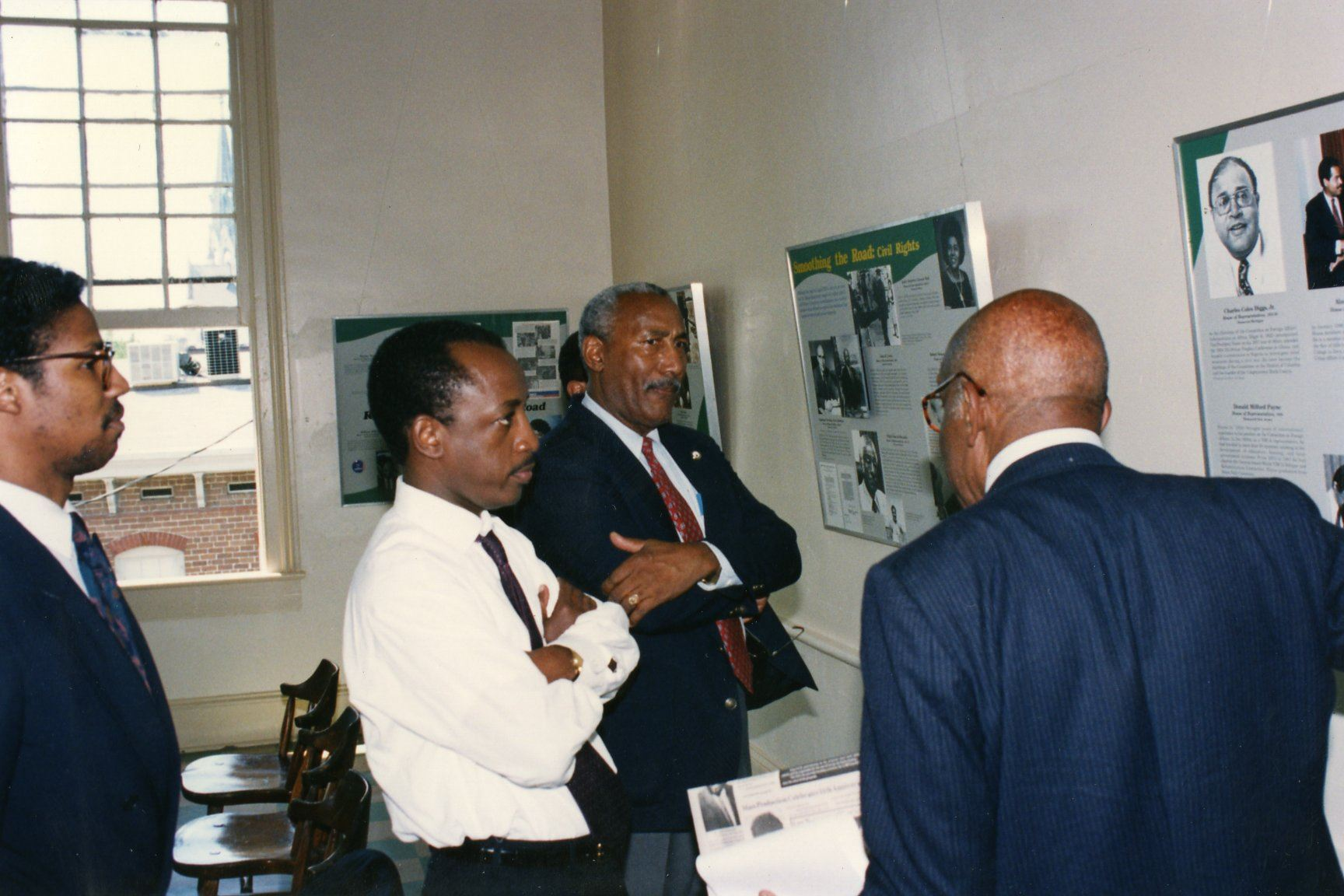 W.W. Law speaking at an exhibition