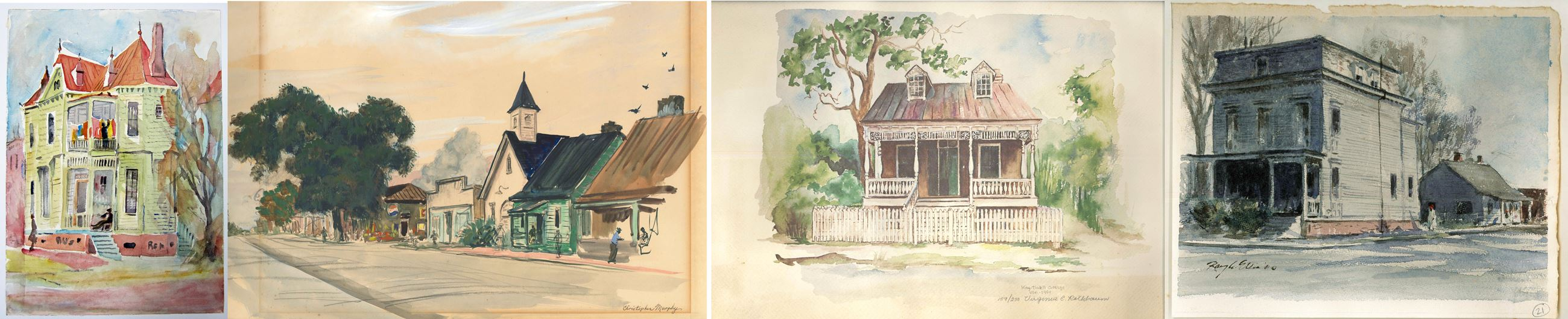 4 pieces of artwork