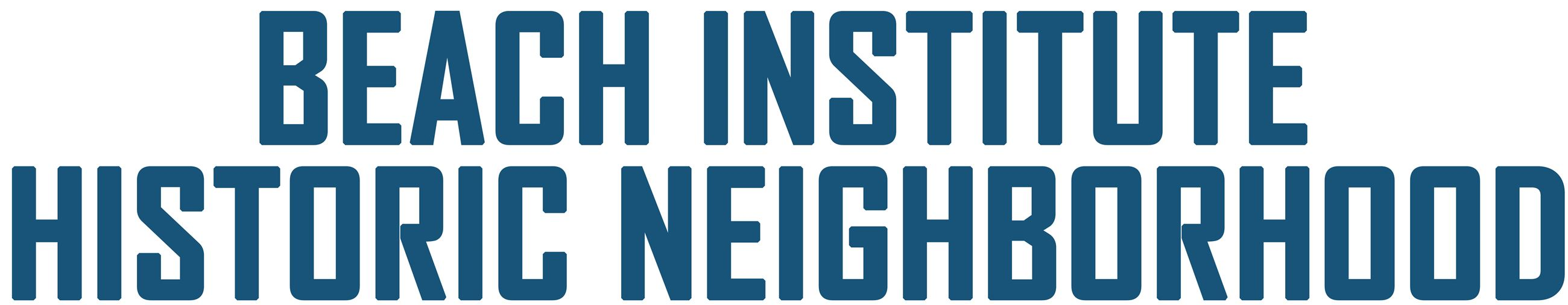 Beach Institute Historic Neighborhood