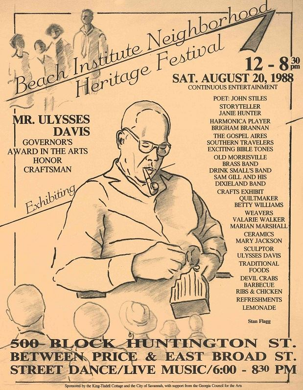 Beach Institute Neighborhood Heritage Festival flyer, 1988