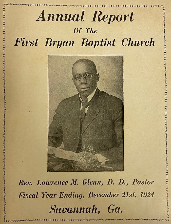 First Bryan Baptist Church Annual Report, 1924