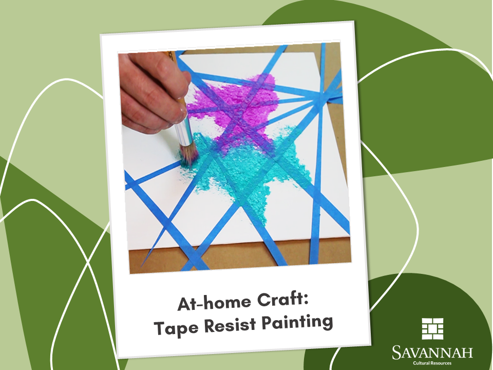 At Home Craft_Tape Resist Painting Opens in new window